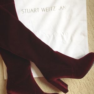 Stuart Weitzman Hiline Over The Knee Velvet Boots
